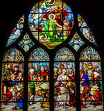 St John Baptist Stained Glass Saint Severin Church Paris France Royalty Free Stock Images