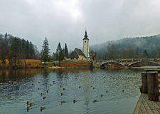 St. John Baptists Church at Bohinjska Jezero Royalty Free Stock Photo