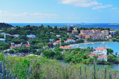 St John bay panorama Royalty Free Stock Photography