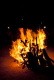 St. John Bonfire tradition in Spanish Stock Photos