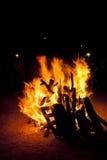 St. John Bonfire tradition in Spanish Stock Photos