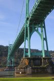 The St. John bridge Portland OR. Royalty Free Stock Photography