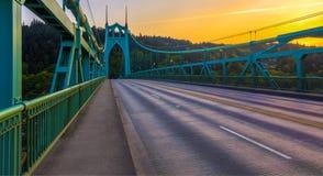 St John Brug in Portland Oregon, de V Royalty-vrije Stock Afbeelding