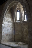 St John castle interior at Rhodes. Old medieval St Jonhs knights hospital at Rhodes island in Greece Stock Photography