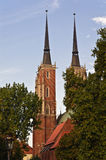 St. John Cathedral Church - Wroclaw (Breslau). A view of one of the oldest cathedrals in Poland, Wroclaw (Breslau stock image