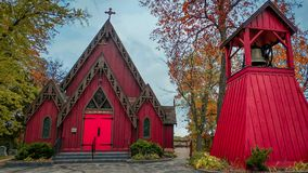 St John Chrysostom Church, Delafield, le Wisconsin photo stock