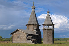 St. John Chrysostom church in Saunino village, Russia Stock Image