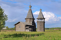 St. John Chrysostom church in Saunino village, Russia Stock Photography