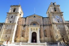 St.John Co-Kathedraal in Valleta, Malta Stock Foto