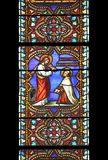 St. John of the Cross, stained glass window Stock Image
