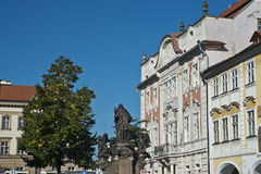 St John da estátua de Nepomuk, distrito do castelo de Praga Foto de Stock