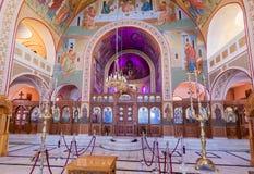 St John de Baptist Church Santorini Greece Royalty-vrije Stock Afbeeldingen