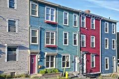 St. John, de Huizen van Newfoundland Stock Foto's