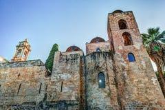St John de l'église d'ermites à Palerme sicily images stock