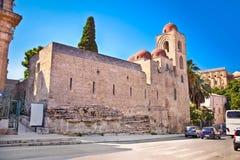 St John de l'église d'ermites à Palerme sicily photo libre de droits