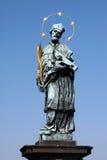 St. John de Nepomuk, ponte Praga de Charles, checa Fotografia de Stock Royalty Free