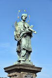St John de Nepomuk, ponte Praga de Charles, checa Imagem de Stock Royalty Free
