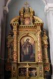 St John dell'altare di Nepomuk nella basilica del cuore sacro di Gesù a Zagabria Immagini Stock