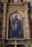 St John dell'altare di Nepomuk nella basilica del cuore sacro di Gesù a Zagabria Fotografie Stock