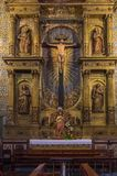 St John Evangelist college Church chapel Altar. Chapel Altar in the St John Evangelist college Church in Funchal on the Portuguese Island of Madeira Royalty Free Stock Photos