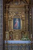 St John Evangelist College Church chapel altar. St John Evangelist College Church in Funchal on the Portuguese Island of Madeira Royalty Free Stock Image