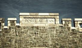 St-John gate in Quebec city Stock Photos