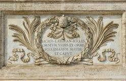 St John i den Lateran basilikan i Rome, den viktigaste churcen royaltyfria bilder