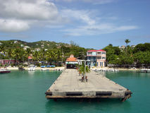 St.John Island Berth Royalty Free Stock Photo