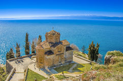 St John - Kaneo, chiesa ortodossa in Ocrida, Macedonia Immagine Stock Libera da Diritti