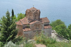 St. John Kaneo Church in Ohrid Stockbilder