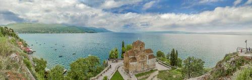 St John - Kaneo, Ocrida, Macedonia immagini stock