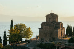 Церковь St. John на Kaneo - Ohrid, македонии Стоковые Фото