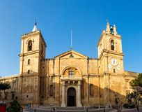 St. John katedra w Valletta, Malta Zdjęcia Stock