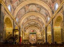 St John katedra w Valletta w Malta, Obrazy Stock