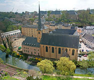 St. John Kerk in Luxemburg Stock Afbeeldingen
