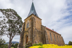 St John Kerk in Richmond, Tasmanige Stock Foto's