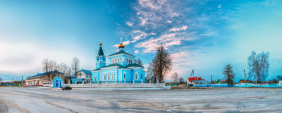 St. John the Korma convent - church in Korma, Belarus. Famous Or. St. John the Korma convent church in Korma Village, Dobrush District, Belarus. Famous Orthodox Royalty Free Stock Photography