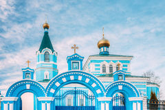 St. John the Korma convent - church in Korma, Belarus. Famous Or. St. John the Korma convent church in Korma Village, Dobrush District, Belarus. Famous Orthodox Royalty Free Stock Images