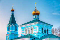 St. John the Korma convent - church in Korma, Belarus. Famous Or. St. John the Korma convent church in Korma Village, Dobrush District, Belarus. Famous Orthodox Royalty Free Stock Photo