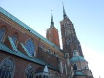 St John la cathédrale de Bapist Wroclaw, Pologne photo libre de droits
