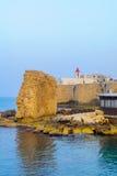 St John la chiesa di Baptist Franciscan, San Giovanni d'Acri Akko fotografia stock libera da diritti
