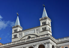 St John Lateran Basilica two bell tower royalty free stock photography