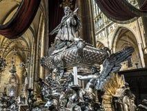 St John Nepomocene nagrobek zdjęcie stock
