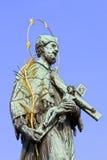 St. John Nepomucene Statue Stock Photo