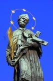 St.John of Nepomuk. Charles bridge Prague,Czech Royalty Free Stock Photos