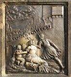 St. John of Nepomuk bronze Royalty Free Stock Photos