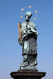 St. John of Nepomuk, Charles bridge Prague, Czech Royalty Free Stock Photography