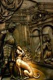 St John Nepomuk statua, Praga, czech Rebublic Fotografia Stock