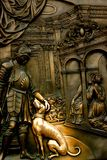 St. John of Nepomuk Statue, Prague, Czech Rebublic Stock Photography