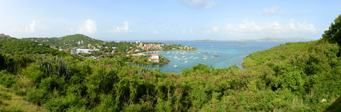St. John Panorama, US Virgin Islands, USA Royalty Free Stock Photography